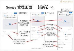 Googleマイビジネス投稿画面